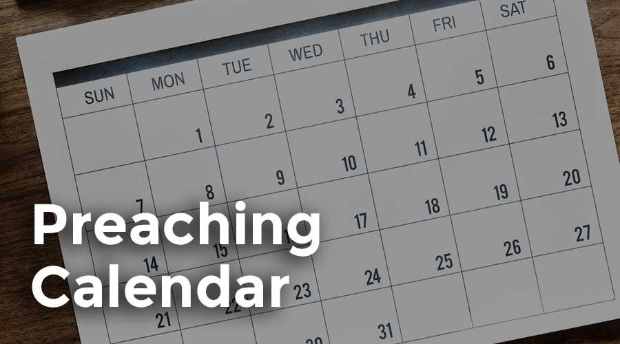 Preaching Calendar
