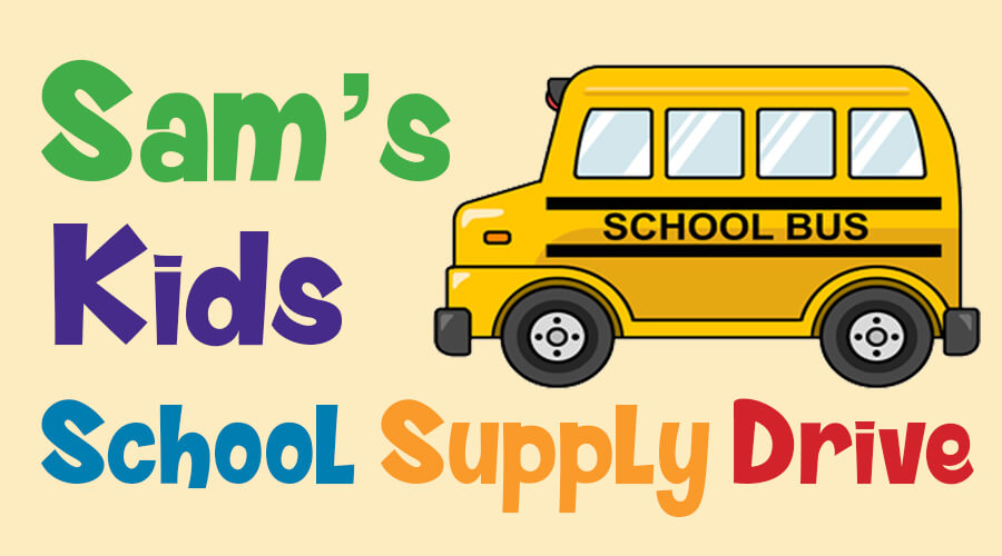 Sams Kids School Supply Drive