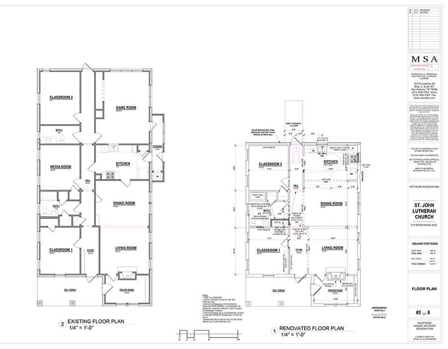 Shepherd House Renovation Plan